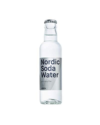 VEEN Nordic Soda Water – 24x 200ml - mildes Mineralwasser in Glasflaschen, Club Soda aus Finnland für hochwertigen Gin und Wodka, Longdrink Mix-Getränk aus Quellwasser