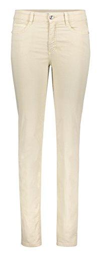MAC Jeans Damen Angela Straight Jeans, Beige (Wheat Beige 205R), 44 (Herstellergröße: 44/30)