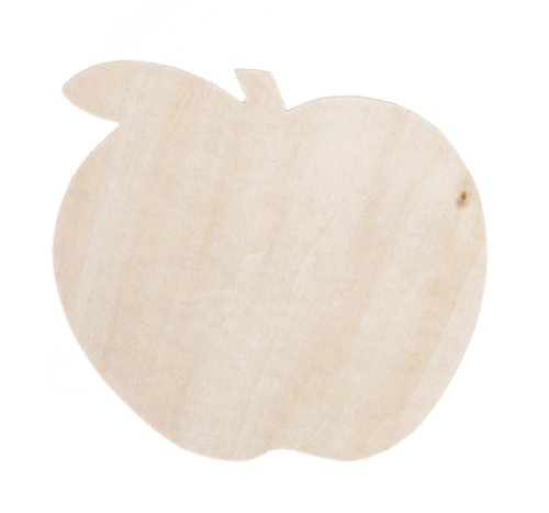 Darice Unfinished Wood Apple Shape, One Size, Natural
