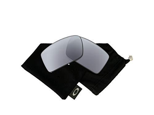 Oakley Original Gascan OO9014 Grey Polarized Replacement Lenses For Men For Women+BUNDLE with Oakley Microfiber Cloth Bag