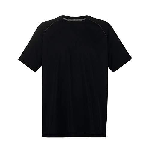 Fruit of the Loom Performance T T-Shirt, Black (Black 101), X-Large Uomo