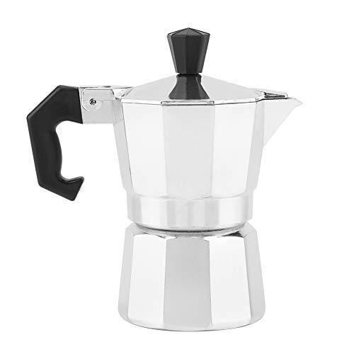 Moka 1 Tazza, Caffettiera Italiana Da 30 ml in Alluminio, Caffettiera Classica Portatile Per Uso Personale, Argento