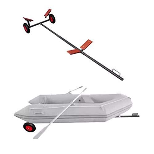 Bootstrailer Hafentrailer Slipwagen Rangierhilfe Bootsanhänger Belastbar bis Max. 160kg, für Boote bis 4,6m Länge