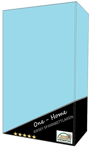one-home Spannbettlaken Babybett Kinder hellblau 60x120 cm - 70x140 cm Jersey Baumwolle
