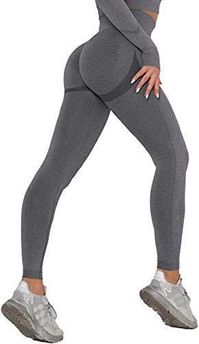 COMFREE Mujer Push Up Mallas Pantalones Cintura Alta Yoga Leggings Deportivos Pantalón Moda para Fitness Running Deporte sin Costura Elásticos y Transpirables