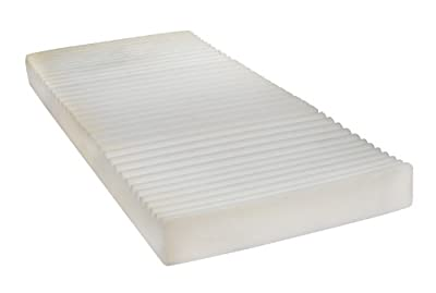 """Drive Medical Therapeutic 5 Zone Support Mattress, White, 35"""" x 80"""" x 5. 5"""""""