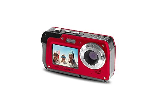 Minolta 48 MP Dual Screen Waterproof Digital Camera MN40WP, Red