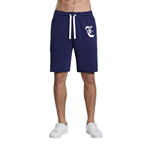 Extreme Pop Men's Rugby Shorts Casual Active Elastic Running Jogger Performance Gym UK Brand (L, Navy 2)