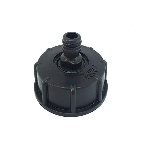 1x Raccord/Bouchon S60x6 mamelon raccord rapide et joints, pour cuve 1000 litres IBC