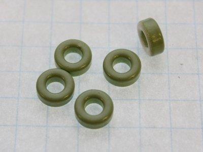 Iron Powder Toroidal Core 0.3' O.D. x 0.15' I.D. x 0.13' Hgt, Type 12 - Lot of 5