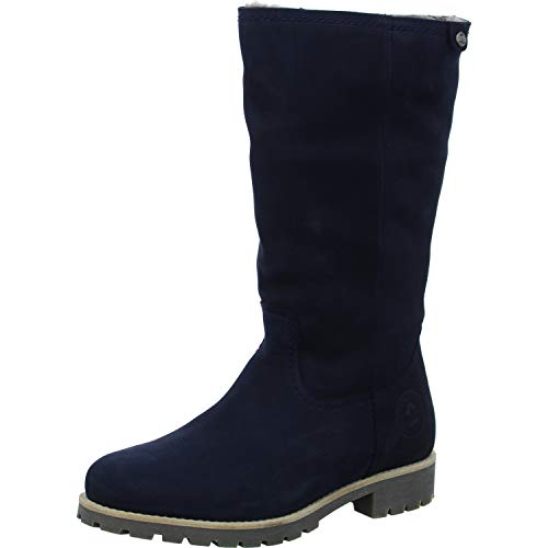Panama Jack Damen Stiefel Bambina Igloo, Frauen Winterstiefel,Lammfell,wasserfest, Winter-Boots fellboots lammfellstiefel,Dunkelblau,36 EU / 3 UK