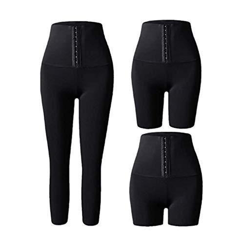 Leggings Adelgazantes para Mujer, Mallas para Sauna, Pantalones Adelgazantes, Gimnasio, Fitness, Deporte, Yoga, Promueve La Sudoración (Color : Shorts, Size : L)