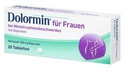Dolormin Frauen bei Menstruationsbeschwerden; 3x20Stck; schmerzlindernd, entzündungshemmend; für Frauen und Mädchen ab 12 Jahren während der Regelblutung