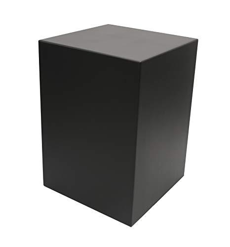 """Meister Sockel für Statuen + Figuren, Podest Größe """"XL"""" = 25x25x35 cm schwarz lackiert, Holzsockel, Holzsäule"""