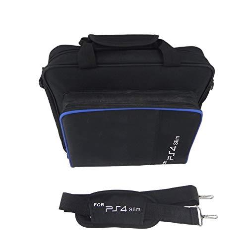 CVBN Bolsa de Almacenamiento para Consola de Juegos Bolsa de Hombro Bolsa de Mano de Viaje a Prueba de Golpes para PS4 Slim, Negro