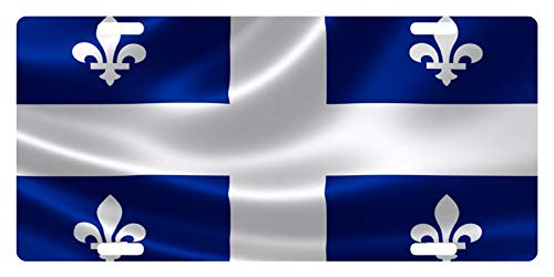 MNUT Quebec Nummernschild mit Kanada-Flagge, personalisierbar, 15,2 x 30,5 cm