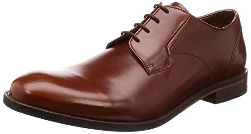 Clarks Herren Edward Plain Derbys, Braun (British Tan Leather), 43 EU