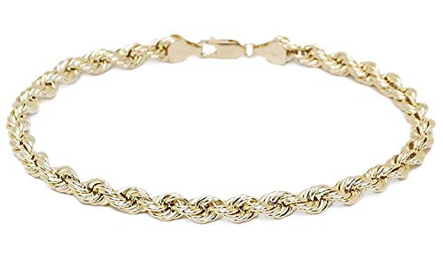 18 karat 750 Gold Kordel Armband Gelbgold 4.70 mm. Breit (19)