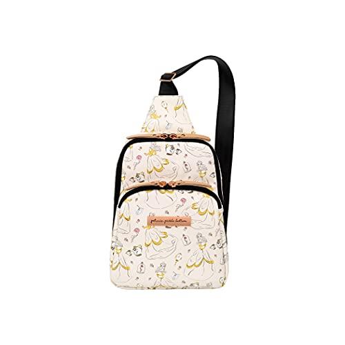 Petunia Pickle Bottom Criss-Cross Sling Bag - Sling Bag for Women and Men - Adjustable Straps to Custom-Fit - Spacious Main Pocket - Small Sling Bag - Stylish Sling Bag - Disney's Whimsical Belle
