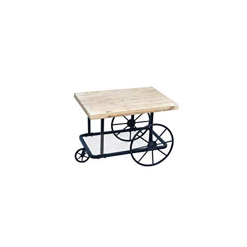 Art Deco Home - Table décorative, Chariot rétro 71 cm - 15932SG