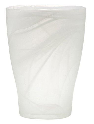 Scheurich 55820-INDOOR Orchideentopf 13x13x17cm snow twirl, aus Glas