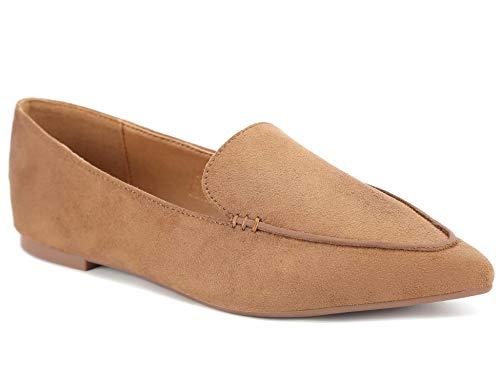 Greatonu - Zapatos de Trabajo para Mujer, Suaves y cómodos, Beige (Beige), 40 EU