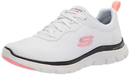 Skechers Flex Appeal 4.0 Brilliant View, Zapatillas Mujer, White Black, 38 EU