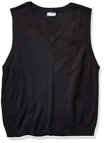 Classroom School Uniforms Men's Adult Unisex V-Neck Sweater Vest, Black, Large
