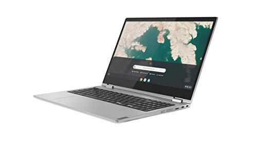 Product Image 1: Lenovo Chromebook C340 2-in-1 Laptop, 15.6″ FHD (1920 X 1080) Touchscreen Display, Intel Pentium Gold 4417U Processor, 4GB DDR4 RAM, 32GB SSD, Chrome OS, 81T90003US, Mineral Grey