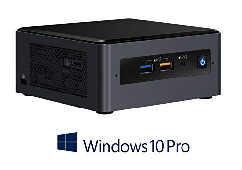 Intel Nuc Mini PC | Intel Quad-Core i5-8259U Turbo 4X 3.80GHz, 256GB SSD, 8GB DDR4, Intel Iris Plus Grafik 655, 4K Auflösung, WLAN, Bluetooth, USB3.1, HDMI, Windows 10 Pro, Komplett-PC, Micro-PC