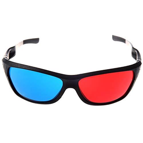 Gaetooely Rojo-Azul/Gafas 3D Estilo de Cian Anaglifo para 3D Pelicula TV