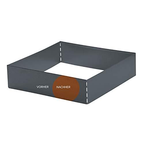 bellissa Rasenkante Square Corten, quadratisch 50x50 cm, H20 cm