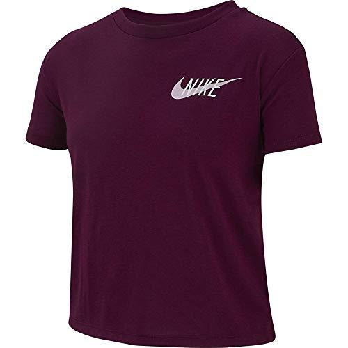 Nike Mädchen G NK Dry GX Short Sleeve Studio T-Shirt, Bordeaux, L