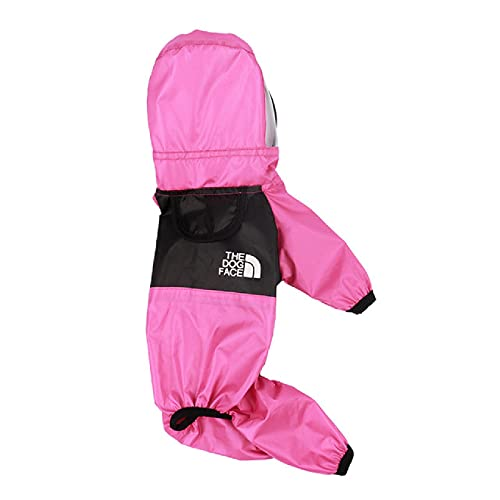 Dog Raincoats for Large Dogs, Multi-Size Polyester Reflective Material, Hooded Raincoats for Dog Pet Raincoats, French Bulldogs, Etc.