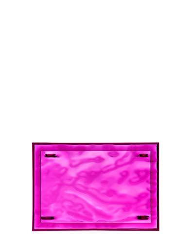 Kartell Plateau Dune Petit, Plastique, Fuchsia, 46 x 32 x 2.5 cm