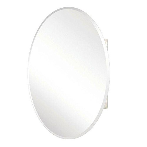 Pegasus SP4583 36-Inch by 24-Inch Surface or Recessed Mount Oval Beveled Mirror Medicine Cabinet, Clear