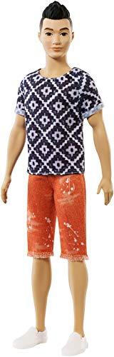 Barbie Fashionistas Ken Bambola con Maglietta Boho Hipster, FXL62