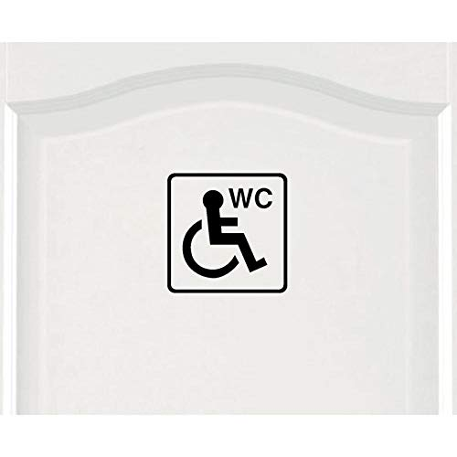 Decors Girls18*18Cm Cartoon Rolstoel voor gehandicapten Unisex Deursticker Muursticker Grafisch Zwart