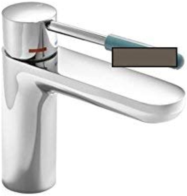 HEWI Einhebel-Waschtischmischer AQ 800 K Griffelement Farbe UMBRA