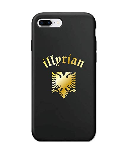 Worldcases_AR: Cover per iPhone 7 Plus/8 Plus, motivo oro lucido, in silicone, Albania, Illyrian, Kosovo (iPhone 7Plus/8Plus, Illyrian)