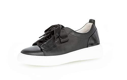 Gabor Damen Halbschuhe, Frauen Sneaker,lose Einlage,Best Fitting,Freizeitschuhe,Plateausohle,weiblich,Lady,Ladies,Women's,schwarz,39 EU / 6 UK