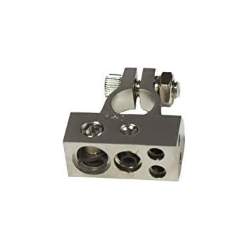 8GA Outputs 2 Stinger SSVLBTN Value Series Negative Battery Terminal 1 4GA /& 1 1//0GA /&