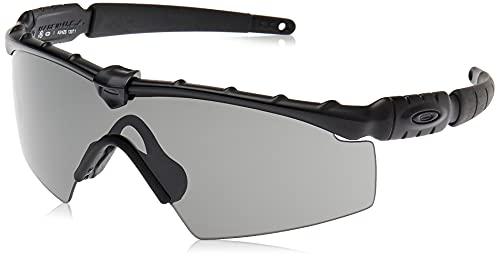 Oakley Men's OO9213 Ballistic M Frame 2.0 Shield Sunglasses, Matte Black/Grey, 32 mm
