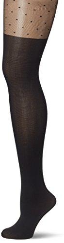 Fiore Feinstrumpfhose DIUNA/Golden Line Classic, Collant Donna, 40 DEN Nero (Black 001), Small