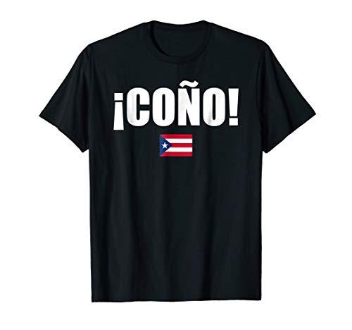 Cono Puerto Rico Flag Spanish Slang Funny Sports Tshirt