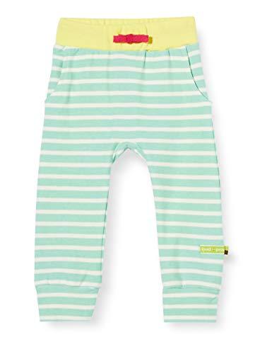 Loud + Proud Striped Pant Organic Cotton Pantalon, Vert (Mint Min), 50/56 Bébé Fille