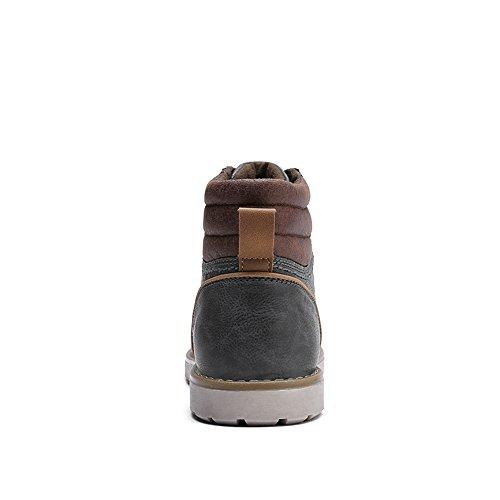 Quicksilk Men's Waterproof Snow boots Hiking Boot (9 D(M) US, Dark Gray)