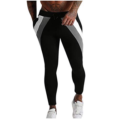 Heren Jogger Cargo Chino jeans broek elastische heupriem met zakken vrije tijd denim Straight Hole Jeans naadkleur broek lange broek 32 EU wit