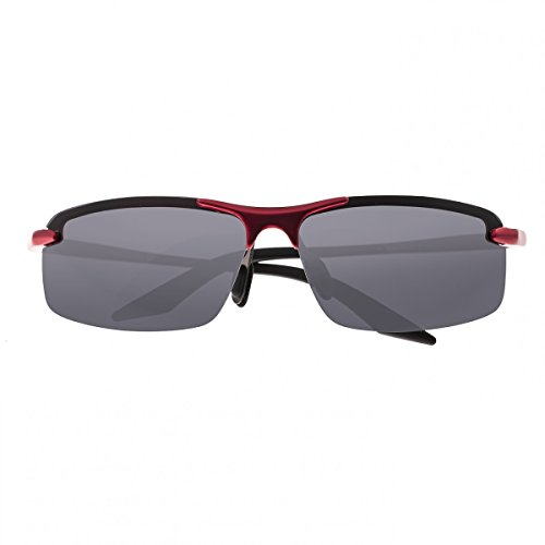 Breed Herren-Sonnenbrille Lynx Aluminium, Herren, rot/schwarz