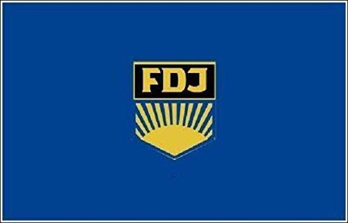 U24 Motorradflagge DDR FDJ Fahne Flagge 20 x 30 cm